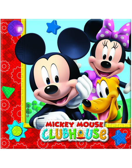 Servilletas Mickey 33x33 Clubhouse 20uds