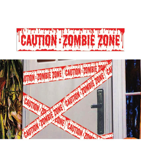 Cinta Caution Zombie 600 x12 cms.