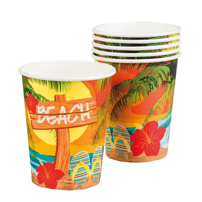 Vasos  Hawai Beach desechables