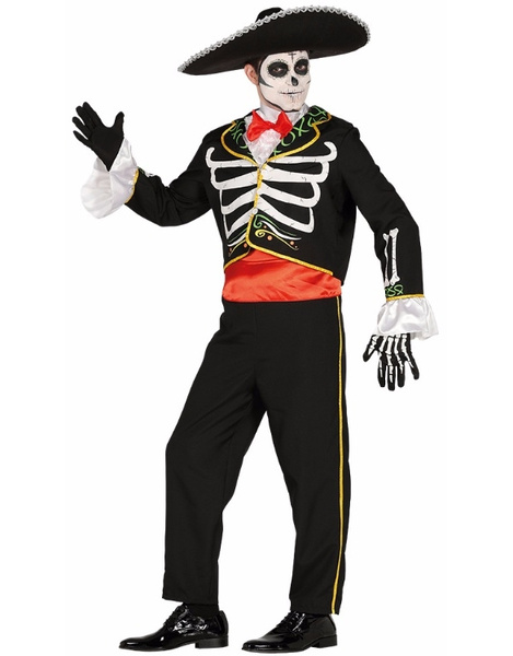 Disfraz mariachi skeleton adulto