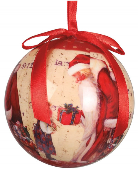 Blister 6 bolas Decoracion Santa claus