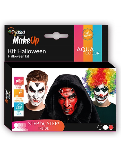 Kit Halloween maquillaje 3 colores 3x2gr