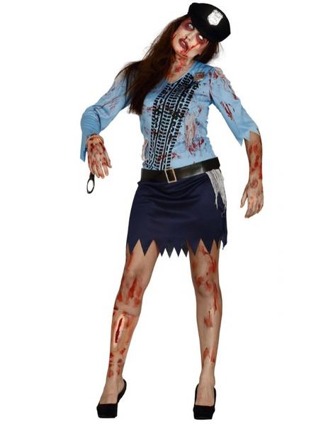 Disfraz Chica Policia zombie para mujer 958b3f903758