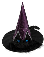 Sombrero Bruja con ojos y cola gato 05bb60ec576
