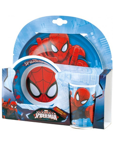 Set Vajilla melamina Spiderman 3 piezas