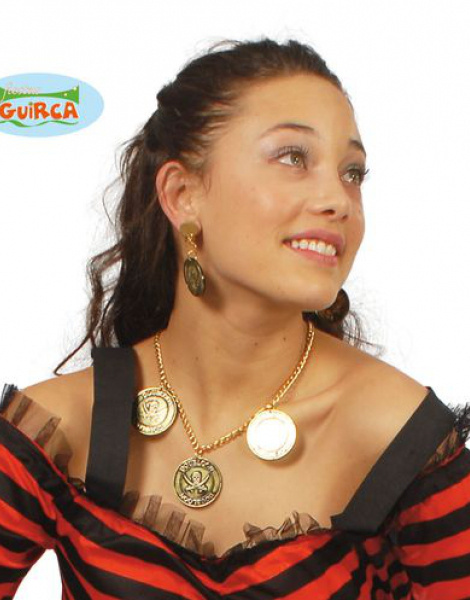 Collar Y Pendientes Pirata Eco
