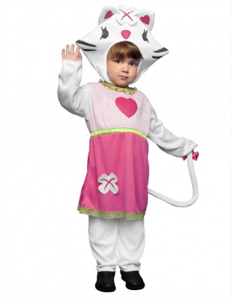 Disfraz gatita rosa infantil
