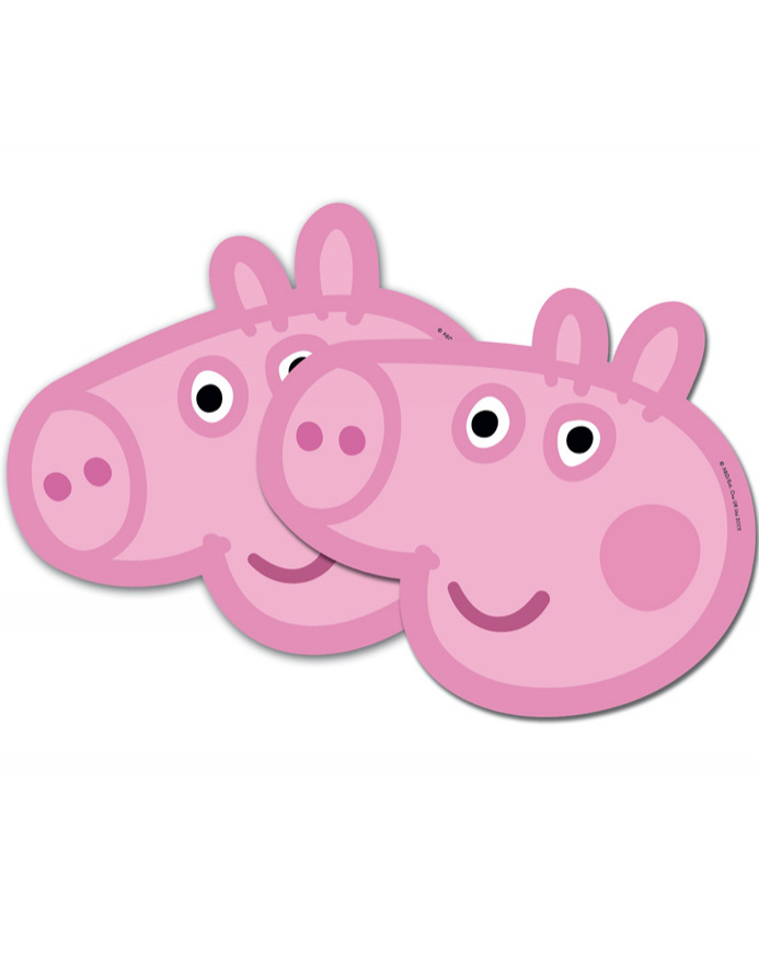 Caretas Peppa Pig Carton 6 Unid.