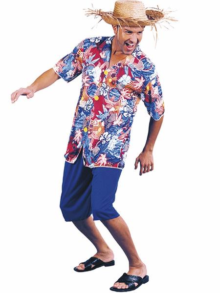 9fe13ea46c926 Disfraz Hawaiano Con Sombrero Adulto