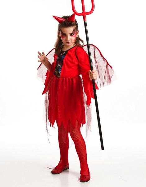 disfraz demonia roja infantil - Maquillaje Diablesa