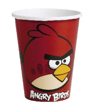 Vasos 25cl Angry Birds 10x8   8 Unid.