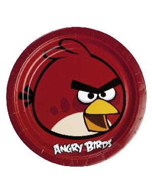 Platos 23cm Angry Birds 10x8  8 Unid.