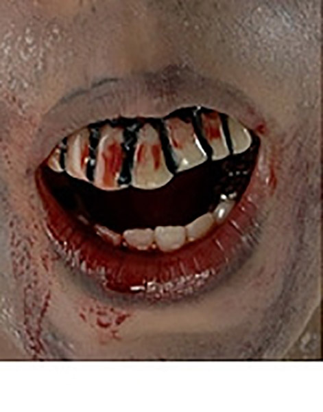 Dientes Zombie Walking Dead