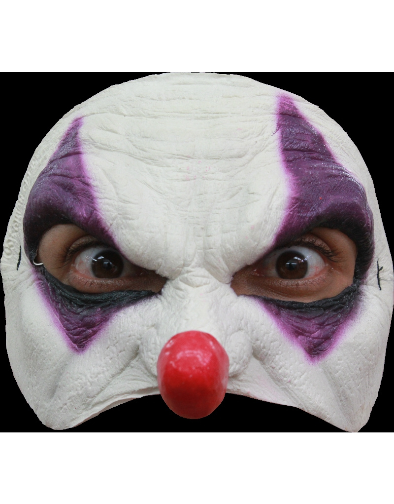 MÁscara Half Mask Purple Clown