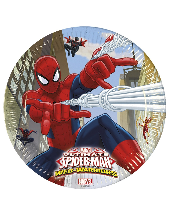 Platos Ultimate Spiderman 8 unid.