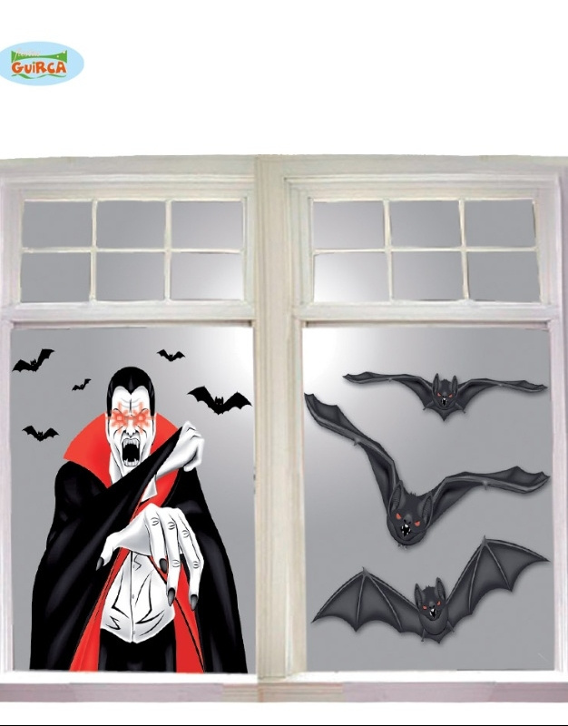 Decoracion Ventana Vampiro 100x76 Cm New