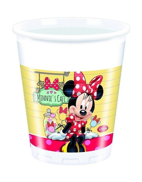 Vasos Minnie Cafe 8 uds. desechables inv